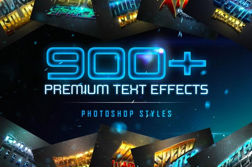 c0260ebcd4 900+ премиальных текстовых эффектов для Photoshop