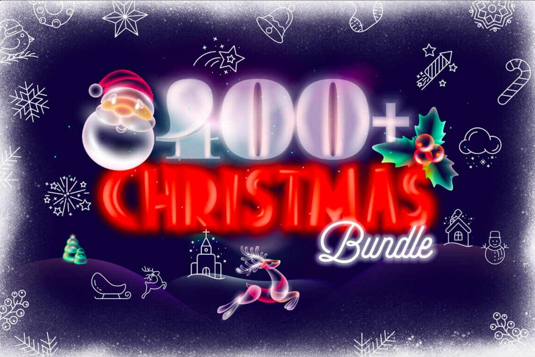 664dd0f8a0 [ДЛЯ ДИЗАЙНЕРОВ] Более 400 Рождественских и Новогодних Векторных Дизайнов
