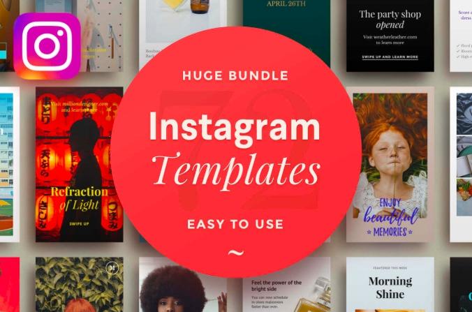 247b842687 Более 70 профессиональных шаблонов для Instagram